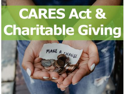 Read the CARES Act & Charitable Giving